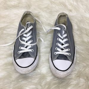 Converse Grey Low Top Sneakers